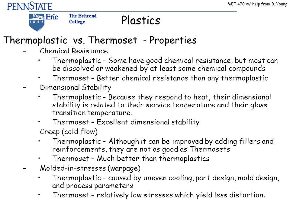 Thermoplastic vs. Thermoset - Properties