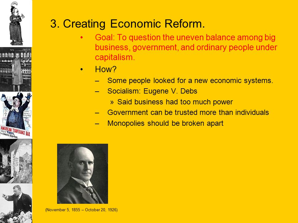 3. Creating Economic Reform.