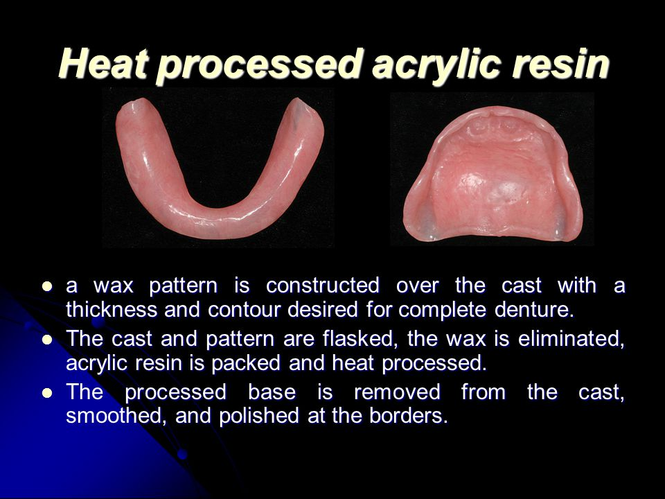 Heat processed acrylic resin