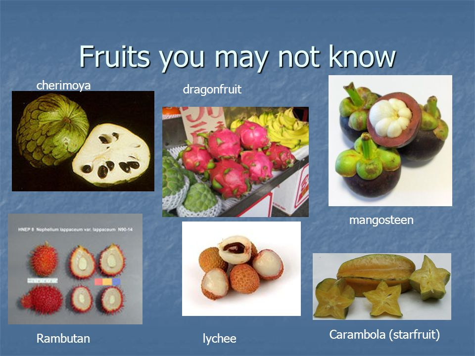 Fruits you may not know cherimoya dragonfruit mangosteen