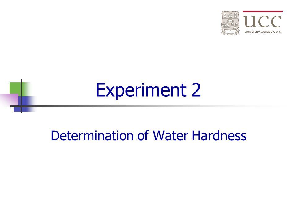 determination of water hardness labpaq