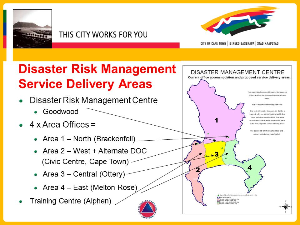 Disaster Risk Management Service Delivery Areas