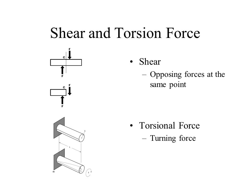 Shear and Torsion Force
