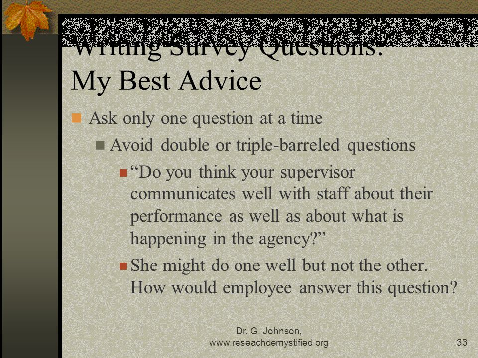 Writing Survey Questions: My Best Advice