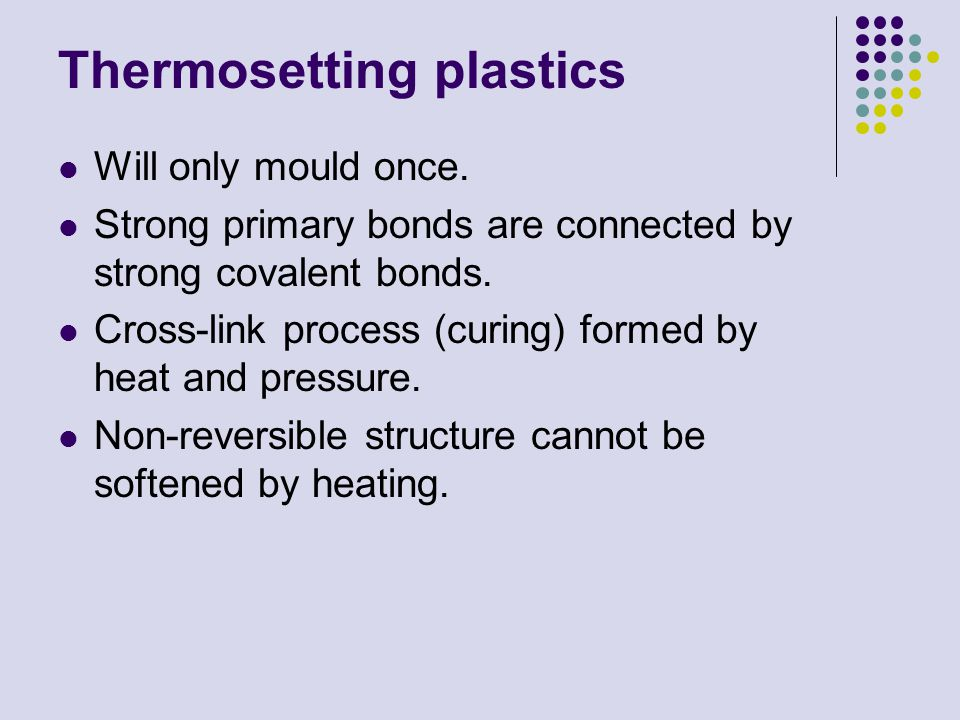 Thermosetting plastics