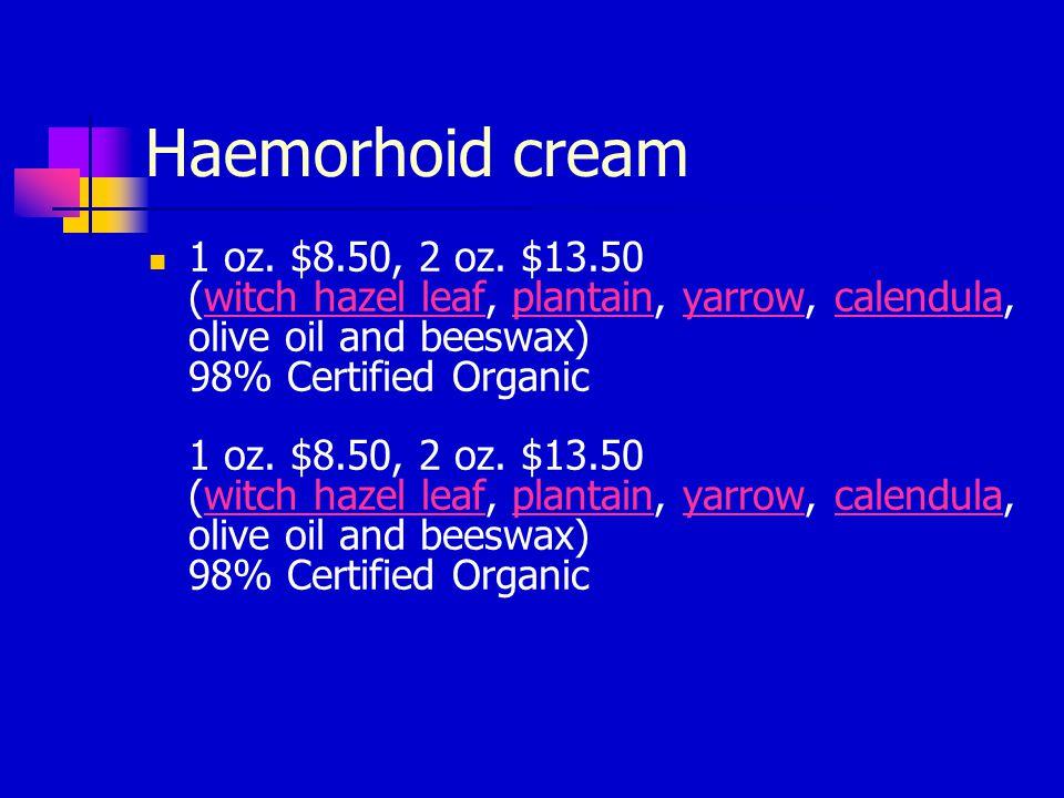 Haemorhoid cream