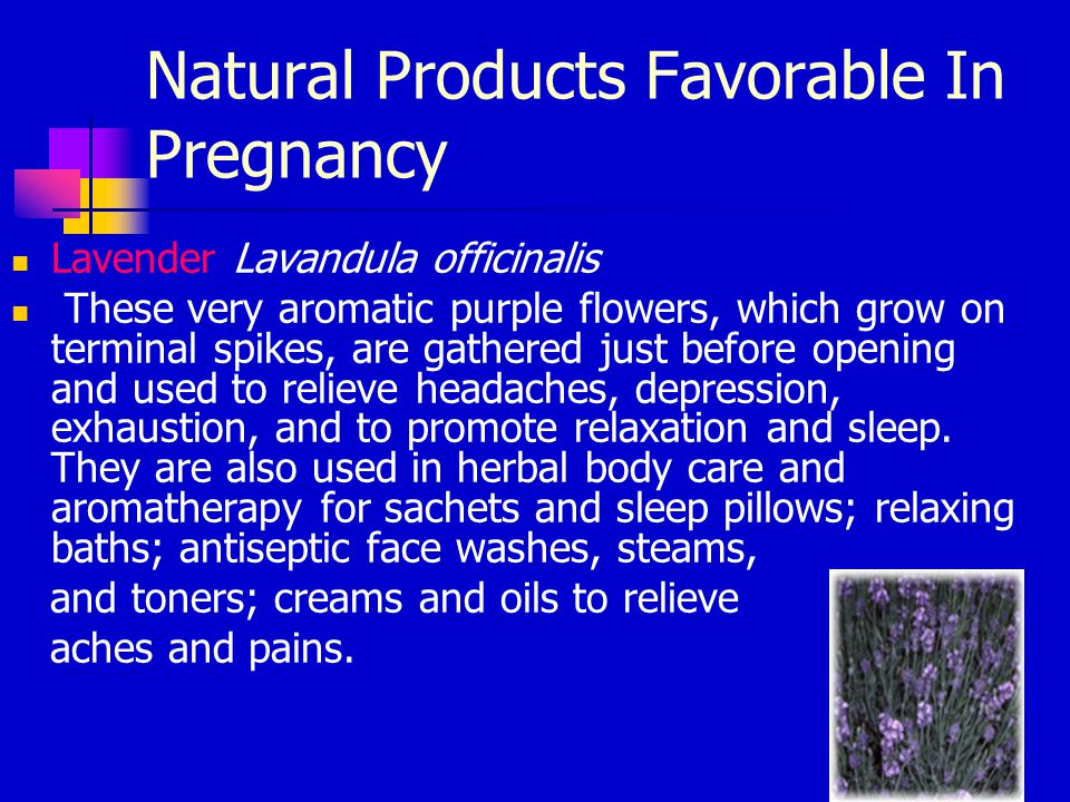 Natural Products Favorable In Pregnancy