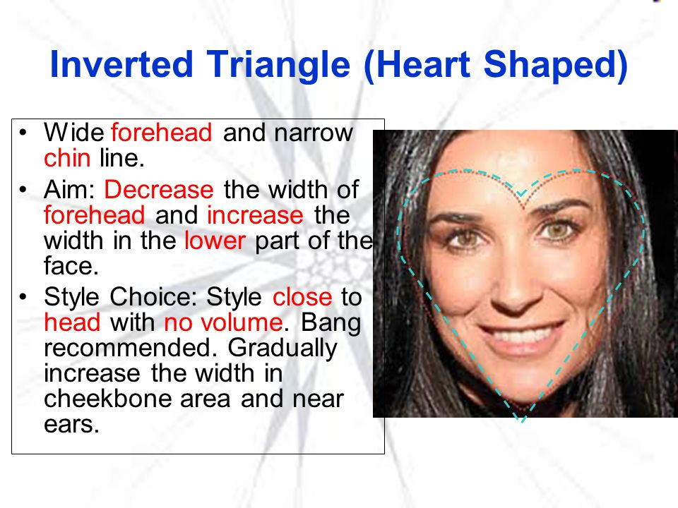 Inverted Triangle (Heart Shaped)