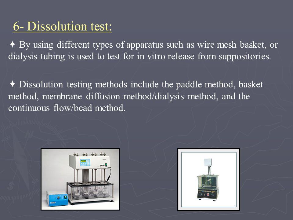 6- Dissolution test: