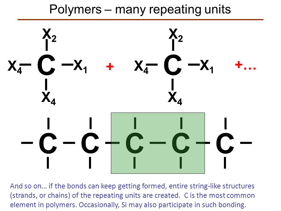 Polymers – many repeating units