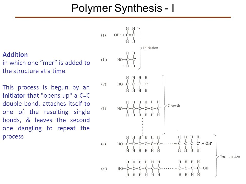 Polymer Synthesis - I Addition