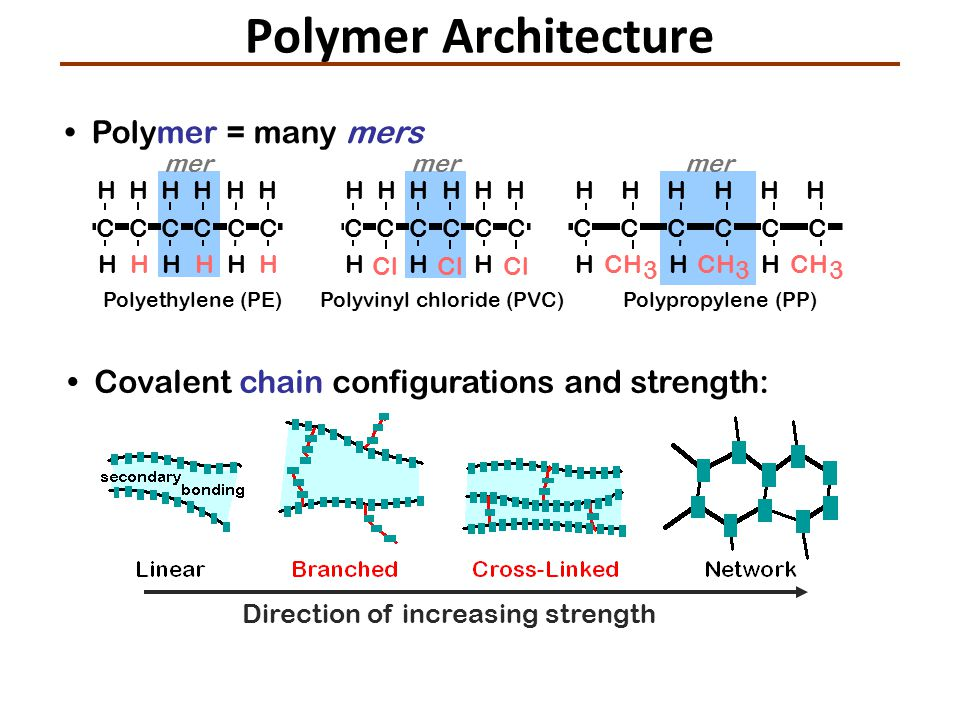 Polymer Architecture • Polymer = many mers