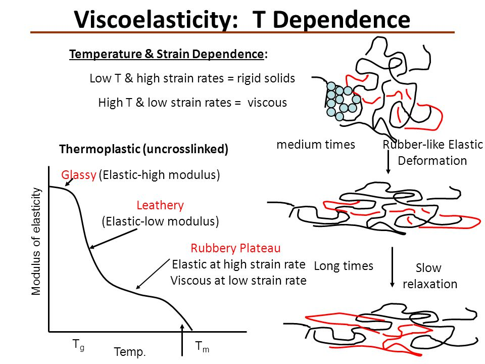 Viscoelasticity: T Dependence