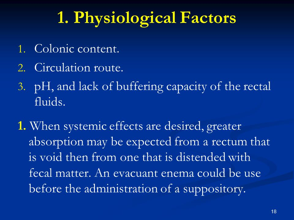 1. Physiological Factors