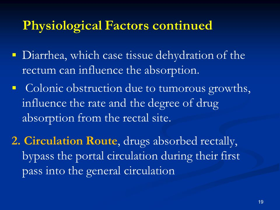 Physiological Factors continued