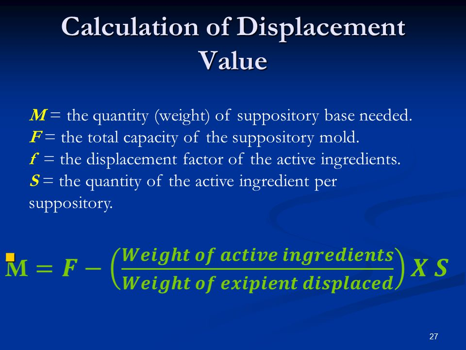Calculation of Displacement Value