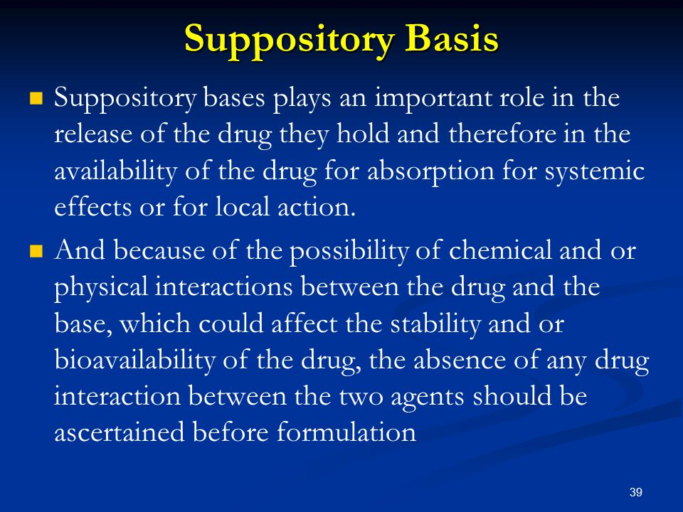 Suppository Basis
