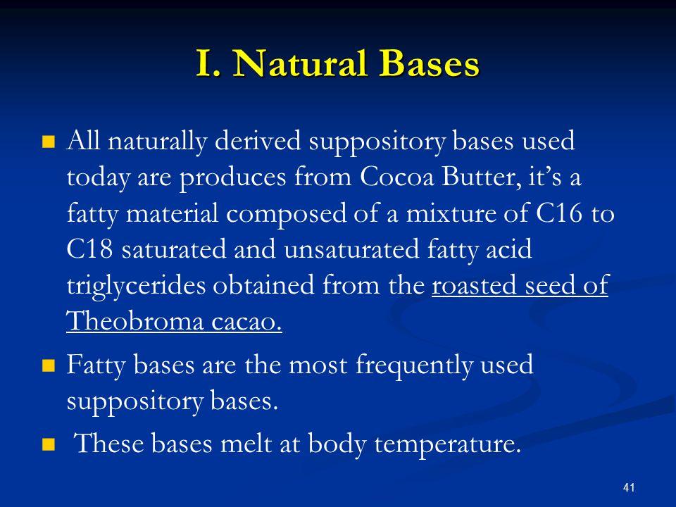 I. Natural Bases
