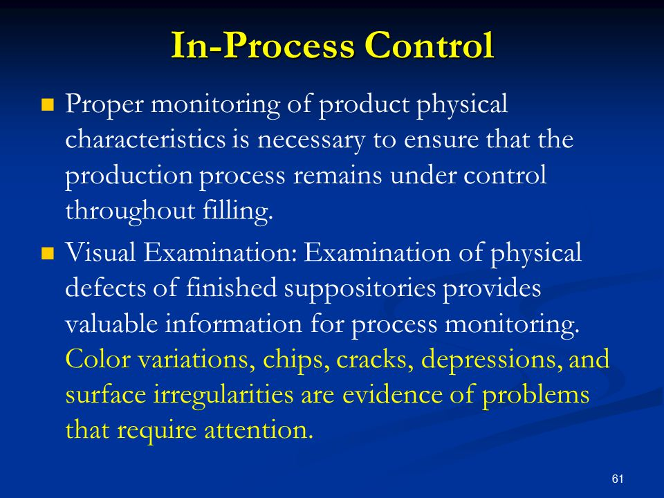 In-Process Control