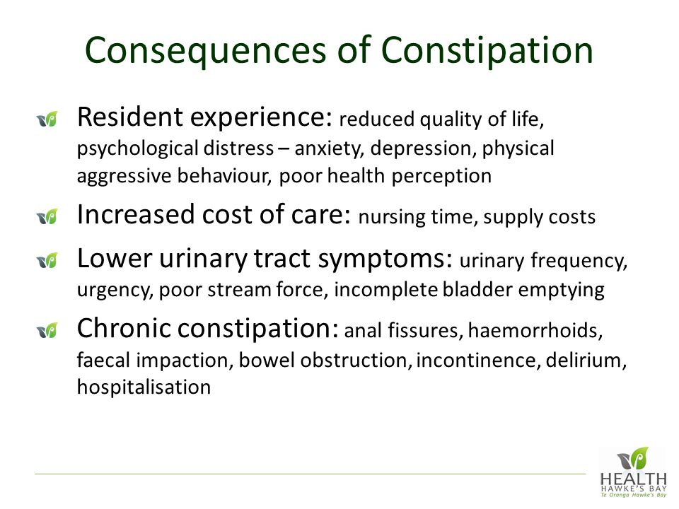 Consequences of Constipation
