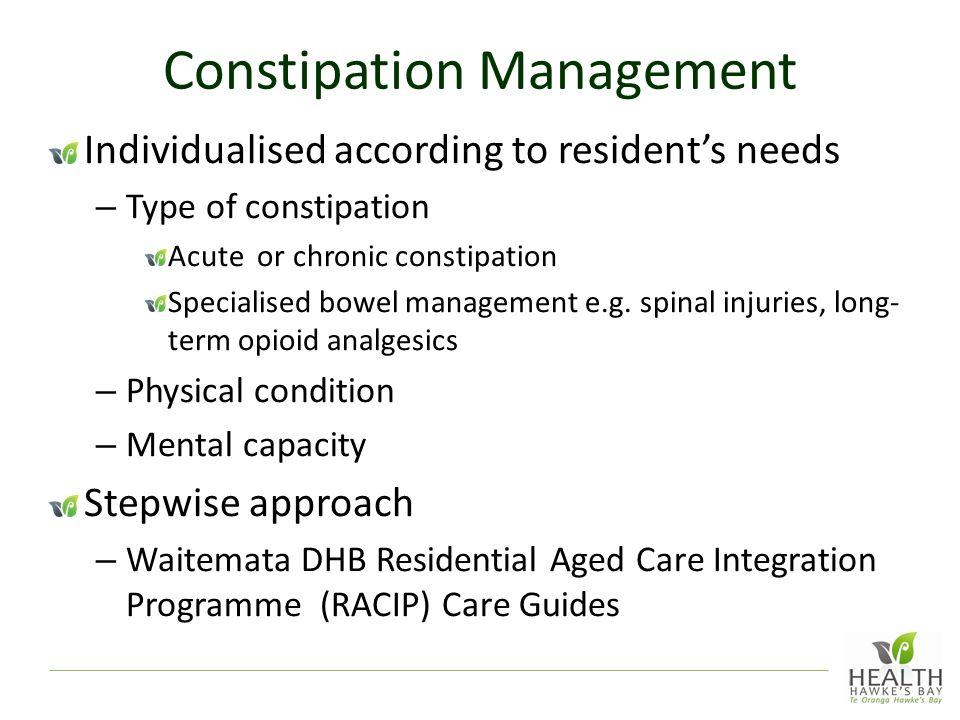 Constipation Management