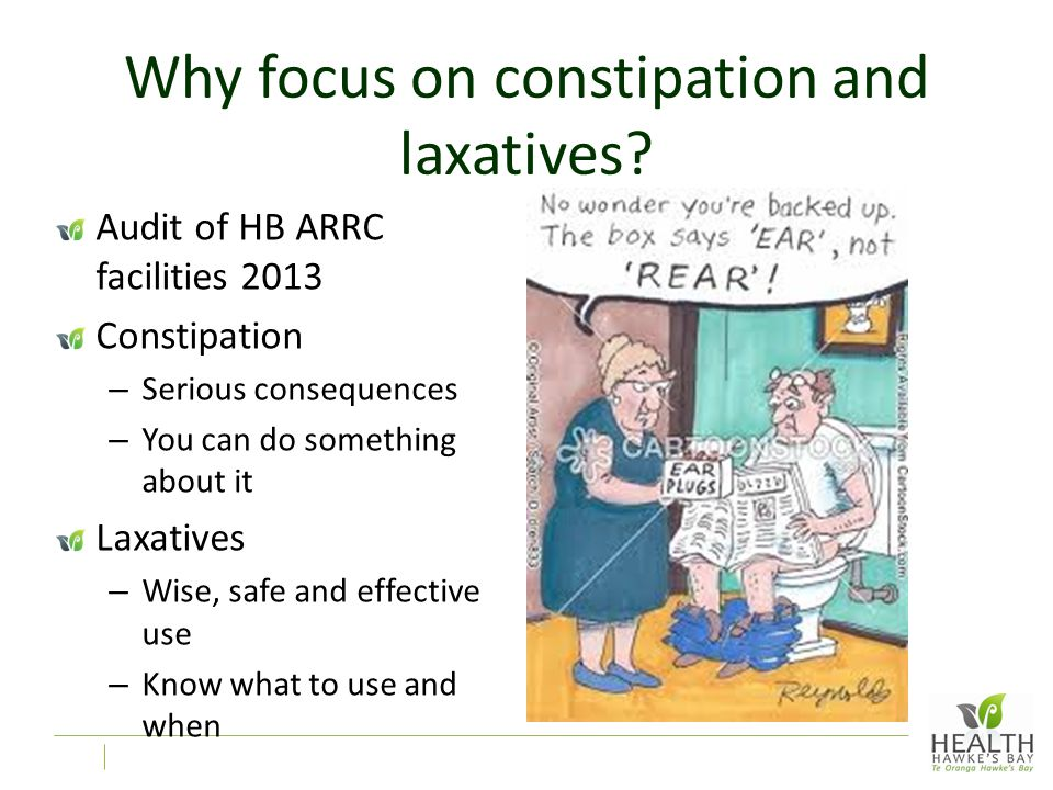 Why focus on constipation and laxatives