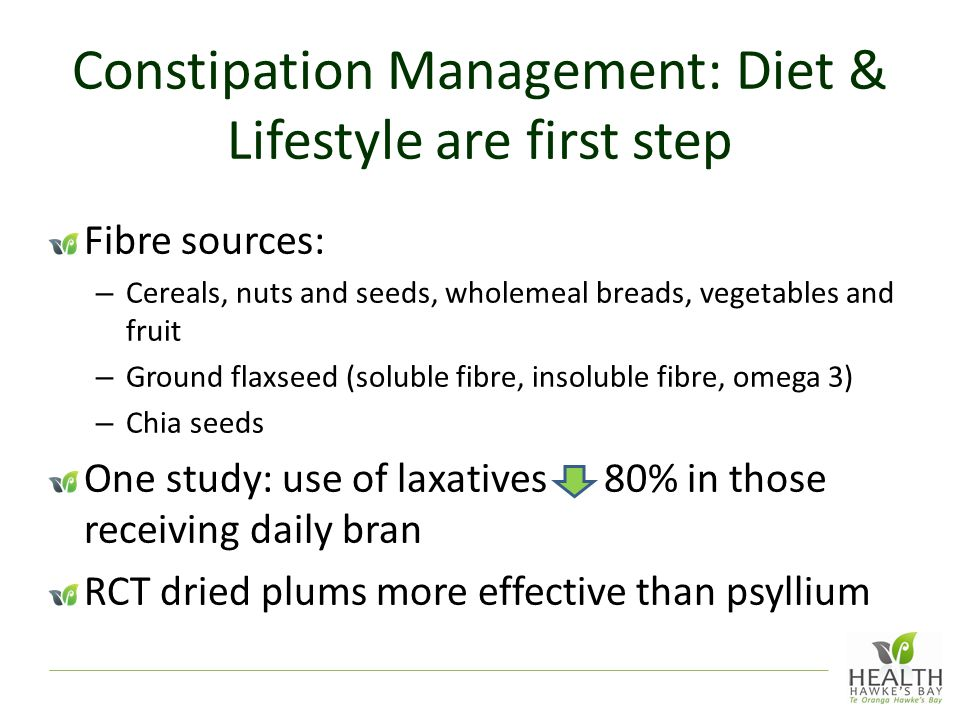 Constipation Management: Diet & Lifestyle are first step