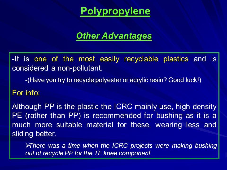 Polypropylene Other Advantages