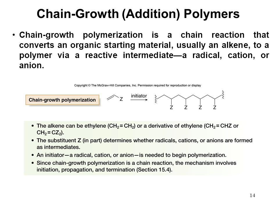 Chain-Growth (Addition) Polymers