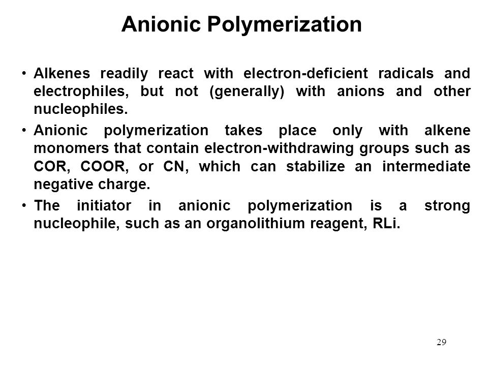 Anionic Polymerization