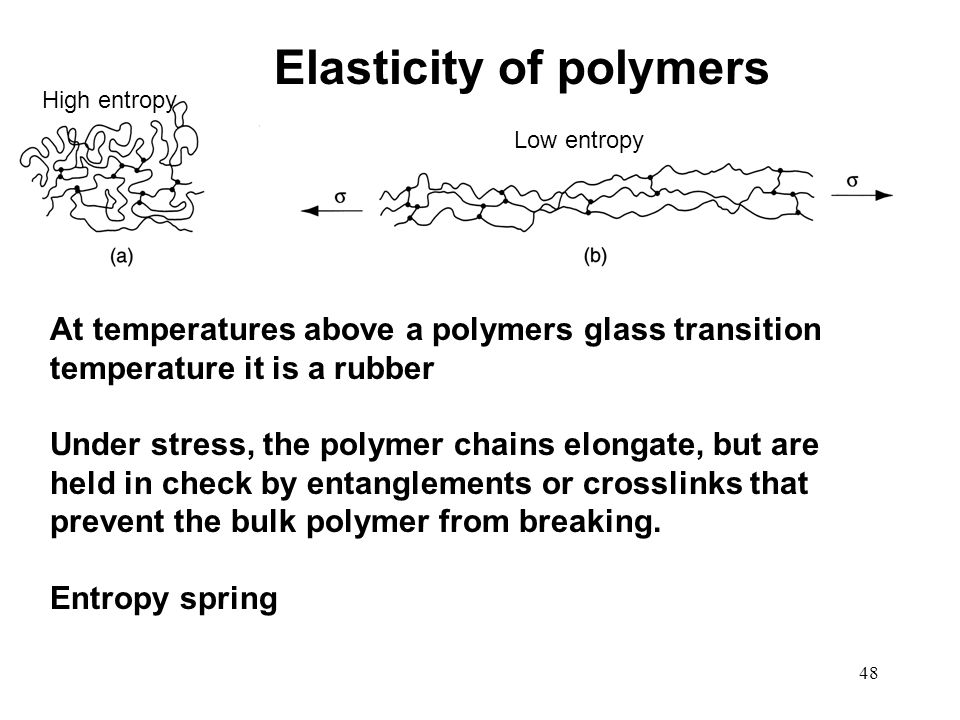 Elasticity of polymers