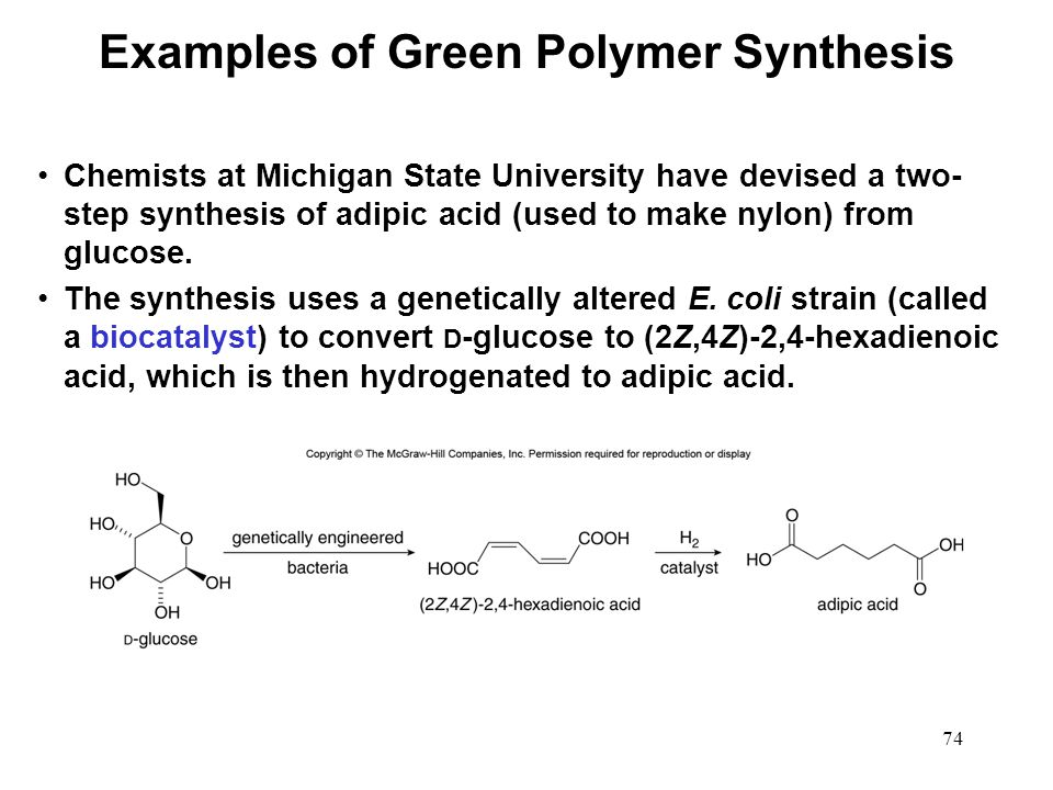 Examples of Green Polymer Synthesis
