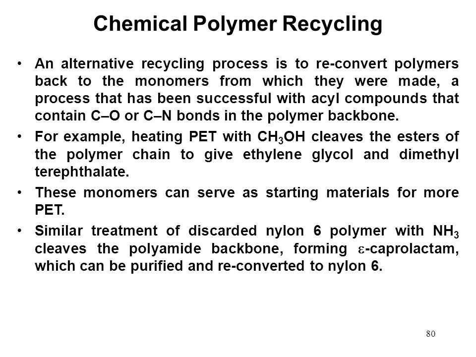Chemical Polymer Recycling