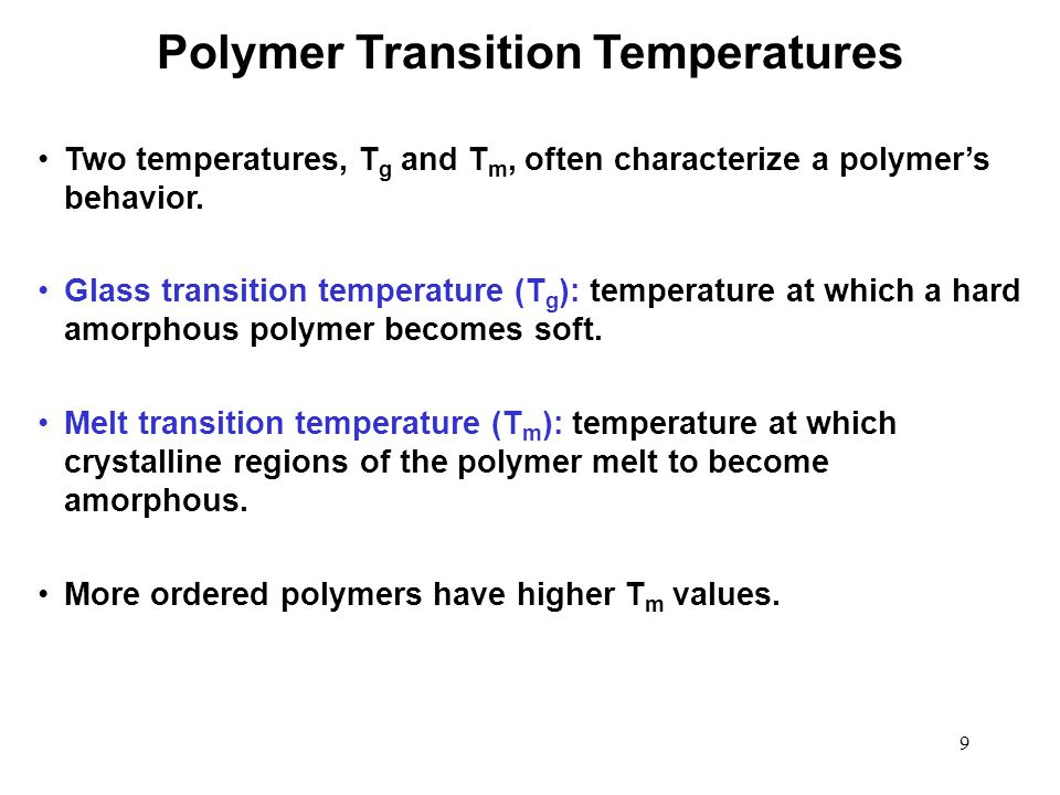 Polymer Transition Temperatures