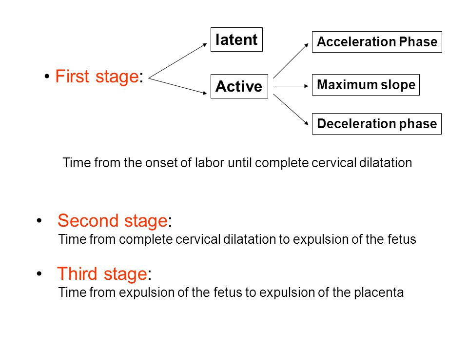 First stage: • Second stage: • Third stage: latent Active