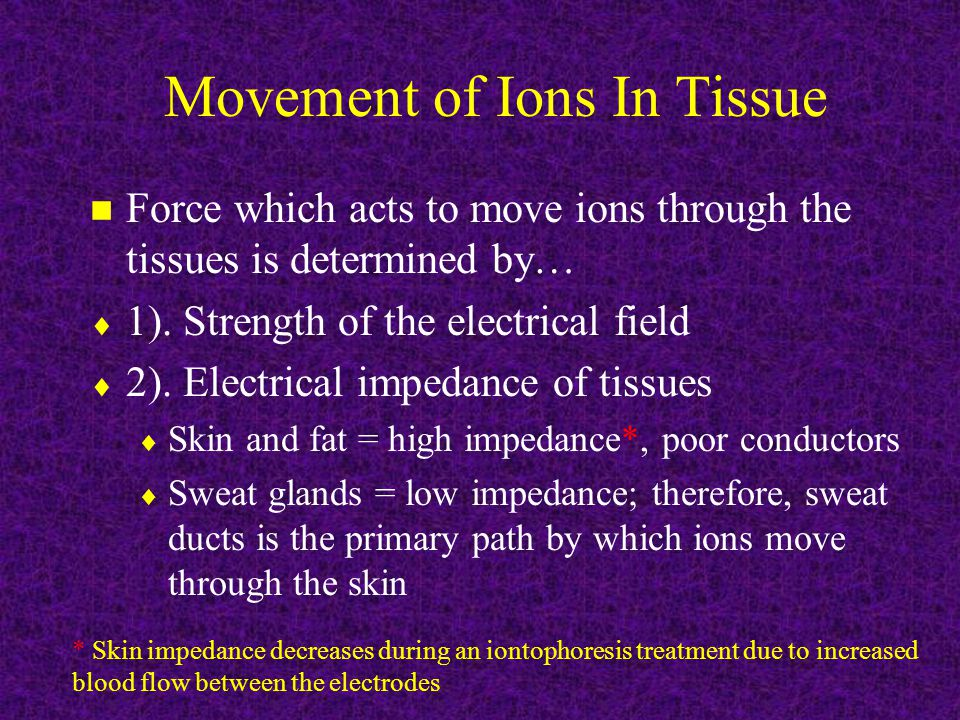 Movement of Ions In Tissue