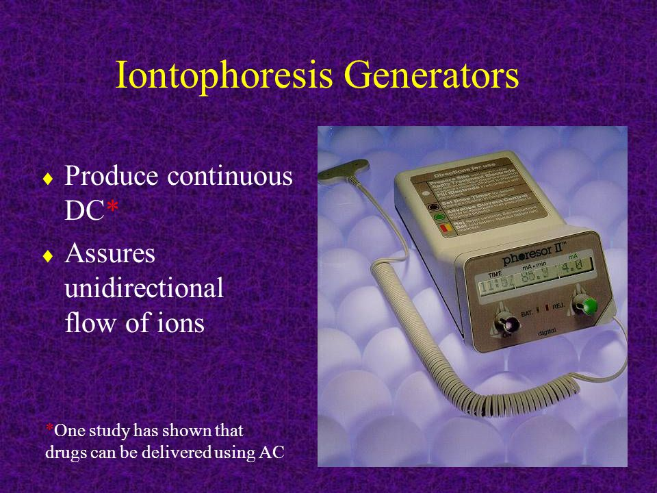 Iontophoresis Generators