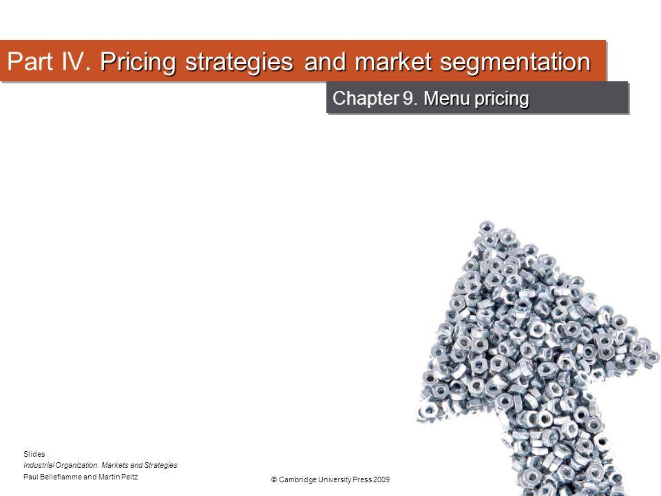 Part IV. Pricing strategies and market segmentation