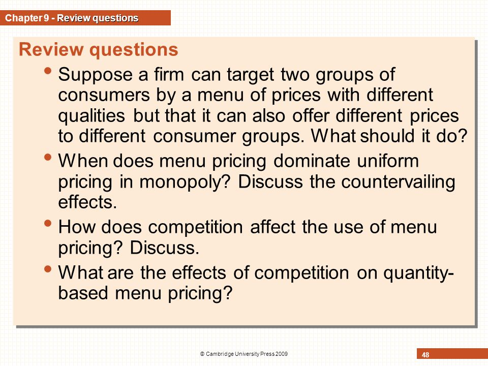 Chapter 9 - Review questions