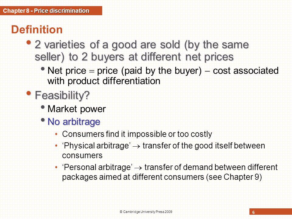 Chapter 8 - Price discrimination