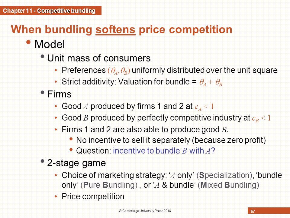 Chapter 11 - Competitive bundling
