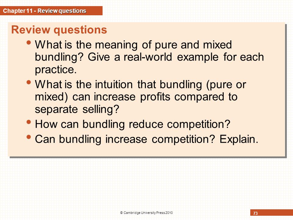Chapter 11 - Review questions