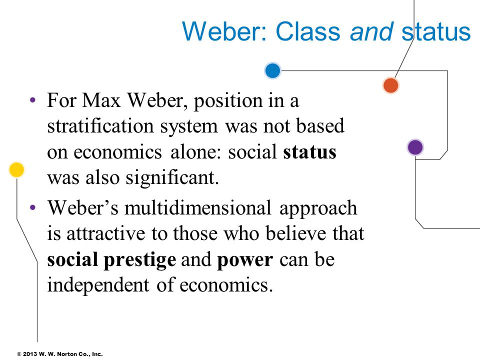 Weber: Class and status