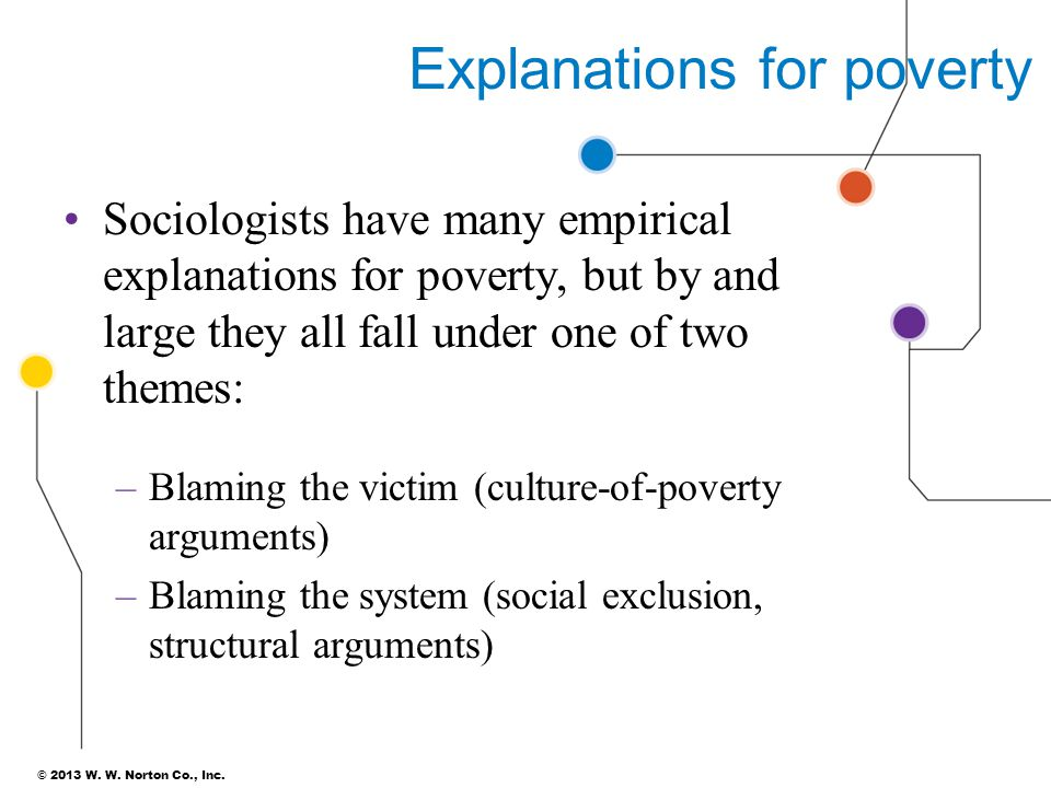 Explanations for poverty