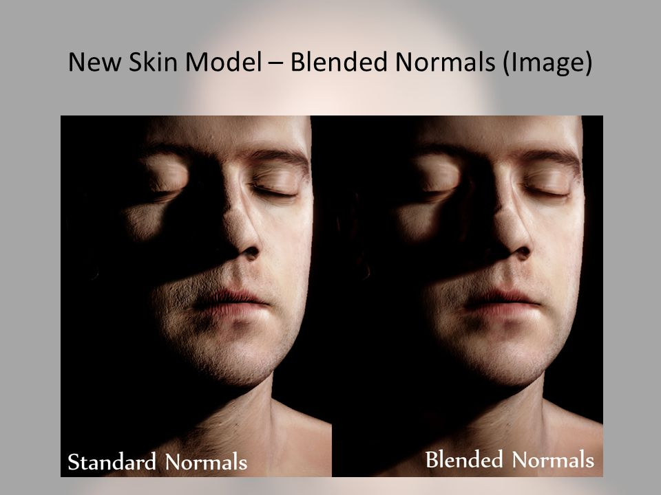New Skin Model – Blended Normals (Image)
