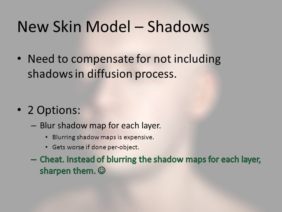 New Skin Model – Shadows