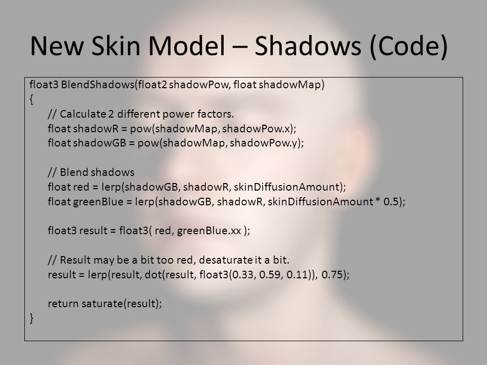 New Skin Model – Shadows (Code)