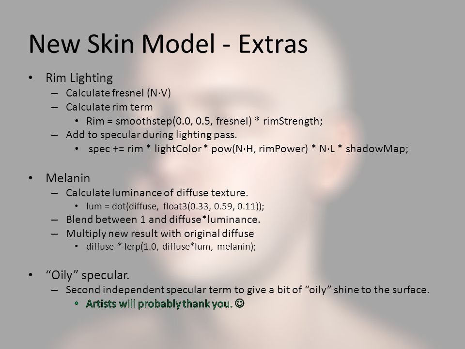 New Skin Model - Extras Rim Lighting Melanin Oily specular.
