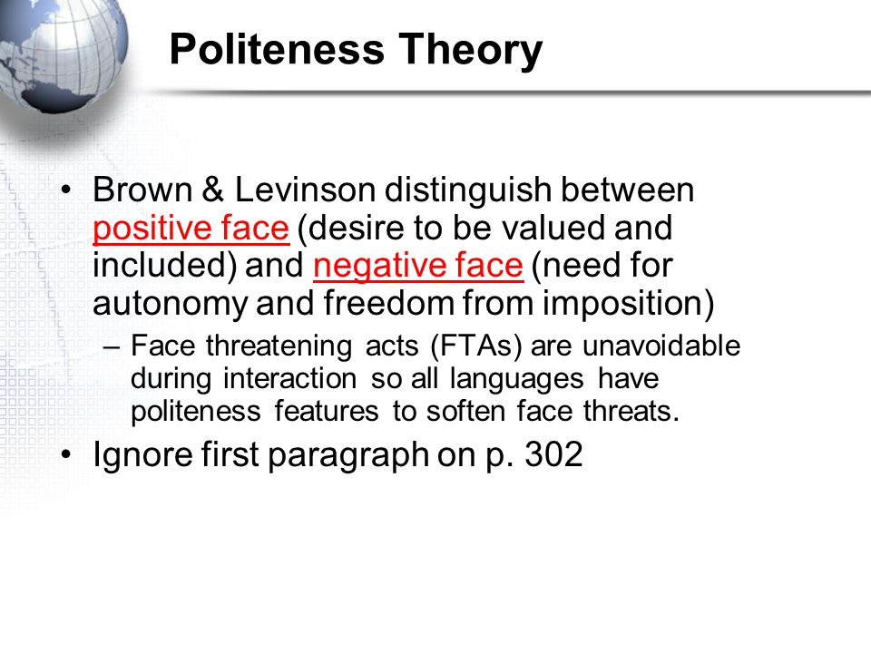 Politeness Theory