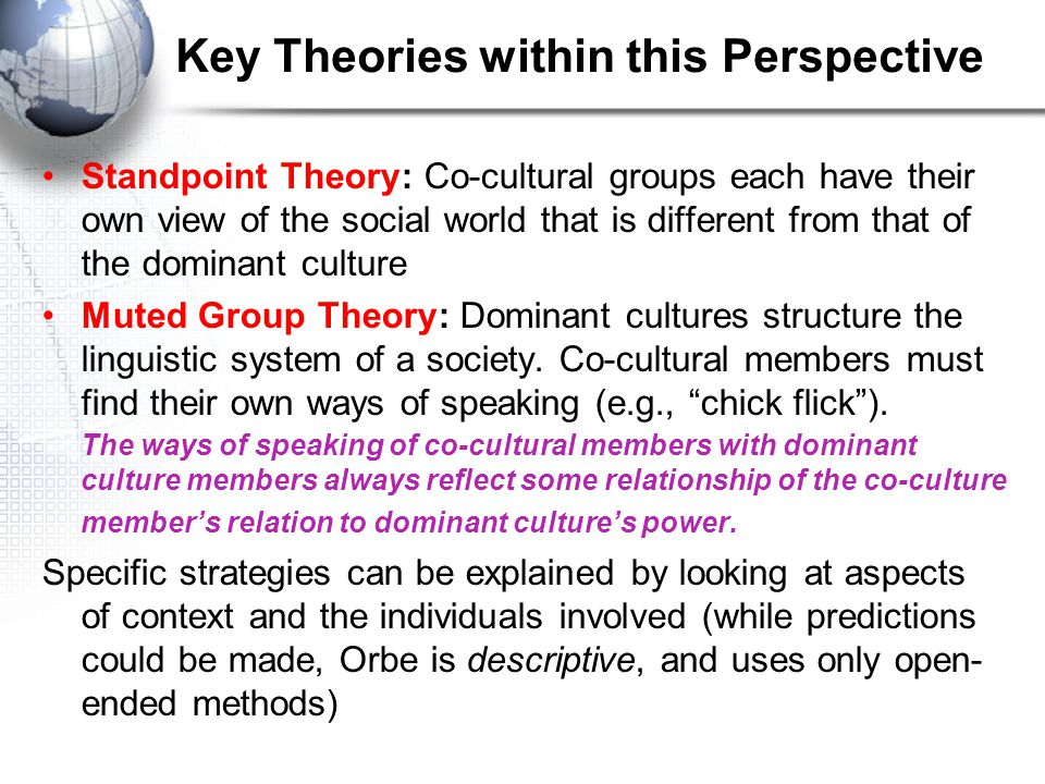 Key Theories within this Perspective